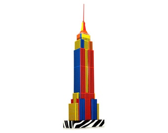 New York Skyscraper Building, craft model kit || Popart Edition || 18 inches or 45 cm high