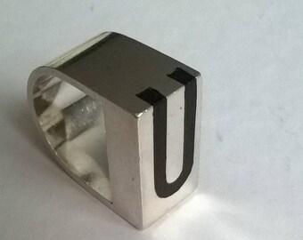 Jens Asby Vintage silver ring. Handmade Denmark 925S.