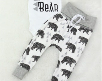 Brother Bear outfit/organic cotton jogger pants