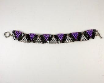 Purple Sage Tila Wiggle Bracelet