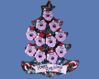 Pig (11) ornament Family tree