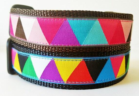 Happy Dog - Dog Collar / Adjustable / Handmade / Pet Accesories / Pet Lover / Gift Idea / Geometric