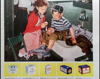 1948 Johnson & Johnson Bandage Advertising Ad - Vintage Ad
