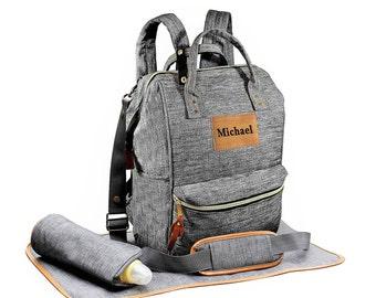 Personalized Diaper Bag Backpack, Crossbody Diaper Backpack, Boy Diaper Bag, Girl Diaper Bag, Nappy Bag, Mommy Bag, Backpack Diaper Bag