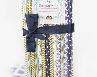 MYSTIC PURPLES -Deep Purple Straws -Paper Straws *Lavender Straws -Flower Straws *Purple Wedding -Purple Wedding decor -Bridal Shower