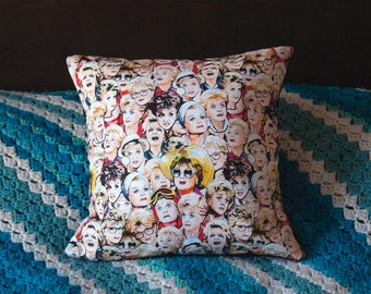 Small Murder She Wrote illustrated and handmade cushion