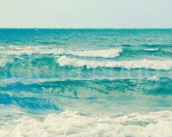 Waves | Beach Backdrop, Ocean Waves, Ocean Photo Photography, Coastal Photography, Beach Cottage Decor, Beach House Art, Beach Home Decor