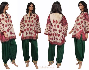 antique Traditional swat-vally Pakistan dress Late 19th or early 20th century no:2