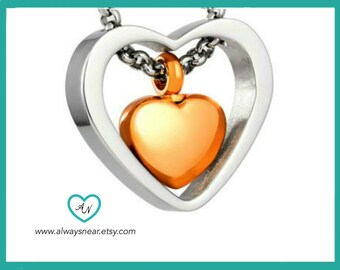 Heart Cremation jewelry, Stainless steel heart ashes jewelry, Memorial Urn, urn, Keepsake necklace, Stainless steel cremation necklace,