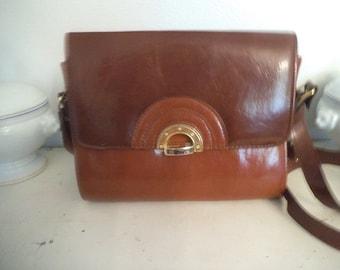 Vintage Brown Two Tone Cross Body Bag ~ Shoulder bag Art Deco