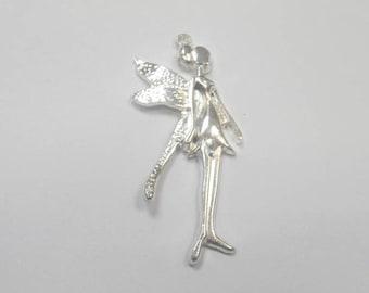 1 charm in silver Elf size 5.5 x 2 cm