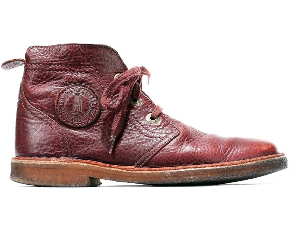 Uk CLARKS Men 80s 8 9 Boots 43 Red Quality 5 Leather Lace Burgundy US for Boots Vintage High men Boots Boots Desert Up Luxury Ankle Eur nW6SxwgR
