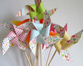 Birthday Favors Twirling Pinwheels Birthday Decoration Easter Decor Table Centerpiece Party Decorations  Baby Shower Wedding Guest Gifts