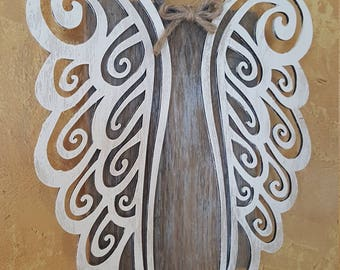 Wooden Angel, Christmas Angel, Guardian Angel, Angel Wings