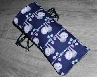 Sloth Fabric Sunglasses Case Eyeglasses Case Glasses Sleeve