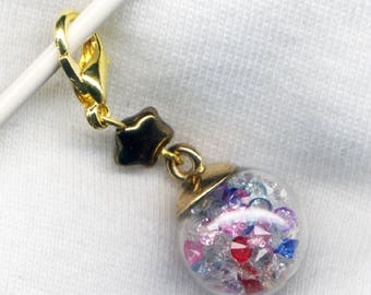 Magic Leprechaun Treasure Stitch Marker Clip Wish upon a star Single /SM260C