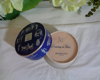 Evening in Paris Bourjois New York Face Powder Naturelle Unopened Never Used Collection Display Box Photo Display 2 3/8 oz