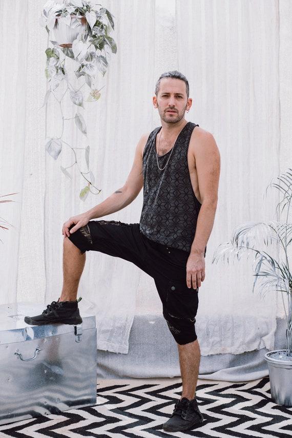 Shorts Urban Wear Shorts Black Clothing Men's Boho Men's Cotton Men Clothing Street Pants Shorts for Hipster Men Shorts Casual Pants HpTqIxO