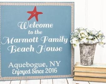 Beach House Sign - Personalized Beach Sign - Beach Sign - Personalized Beach Signs - Beach Decor - Personalized Beach - Beach Signs