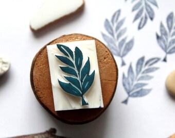Carved stamp leaf autumn handmade