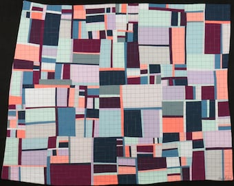 """Art Quilt, Quilt Art, Wallhanging. Motif #24. 32""""H x 40""""W. Pieced and quilted in 100% cotton, hanging sleeve."""