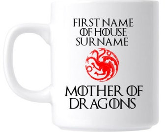 Game of Thrones Mother of Dragons Personalised Gift Mug