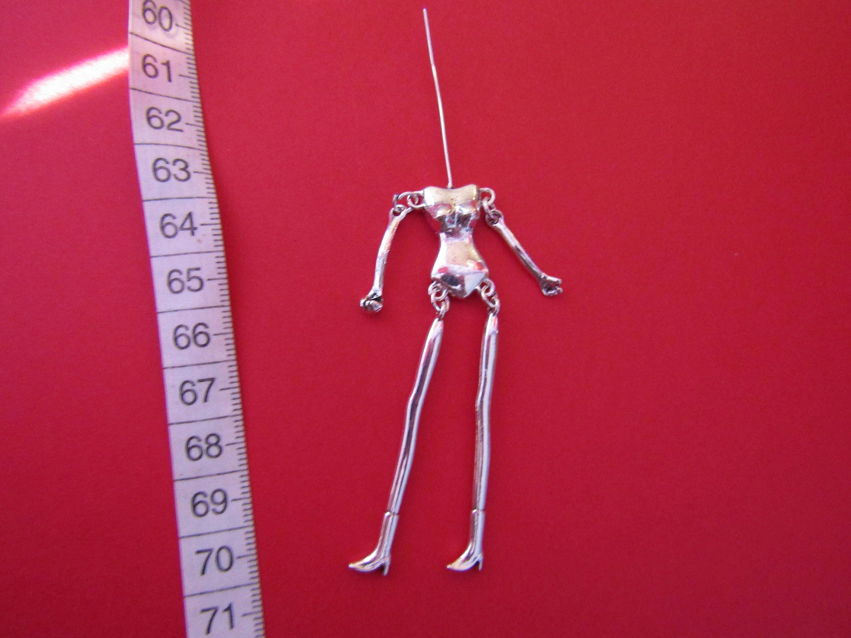 Silber Anhänger Skelett Körper zu kleiden