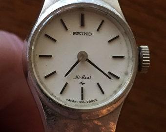 Vintage SIEKO hi-Beat ladies japan mechanical wind 1120-03905 original bracelet running well