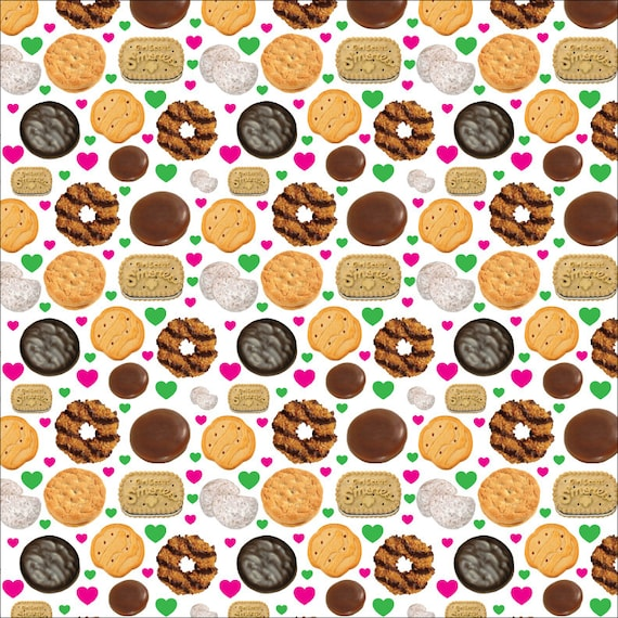 girl scout cookie seamless digital pattern wallpaper lbb