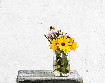 8x10, Flower Vase Wall Art, DIGITAL DOWNLOAD, Digital Watercolor, Springtime
