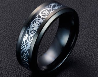 Dragon wedding ring Etsy