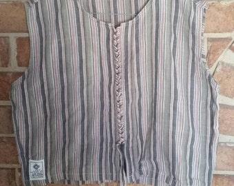 Hippie Top Green Tie-up Pure Cotton