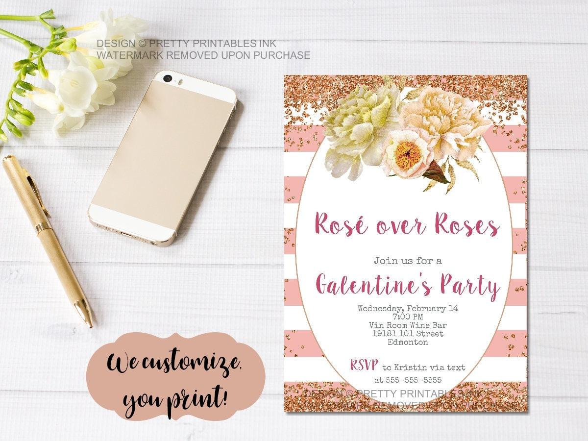 Printable Galentine\'s Day invitation / Galentine\'s