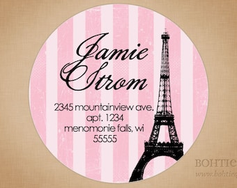Eiffel Tower Paris France Personalized Return Address Label