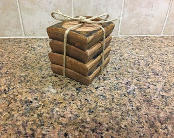 Barrel Stave Coasters (Set Of Four)