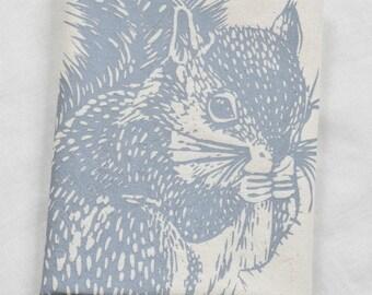 Tea Towel - Squirrel - Organic Cotton - Woodland Decor - Eco Friendly Kitchen Towels - Organic Flour Sack Towel - Cute Animal