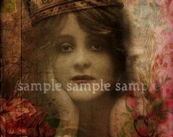 SALE no1018 digital INSTANT download - digital collage sheet - ANGEL - journaling page - background paper