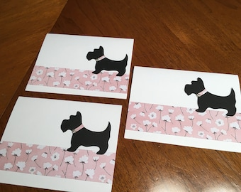 Scottie dogs - set of 3 cards