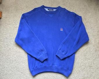 Men's Vintage 90s Tommy Hilfiger Blue Sweater Size Xl