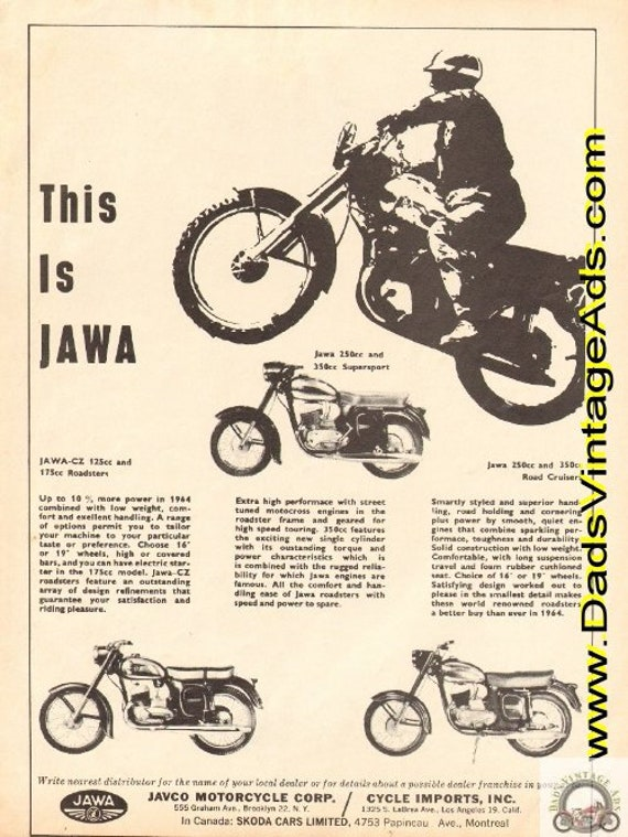 1964 This is JAWA - Supersport, Roadsters, Road Cruisers Ad #e64ha14