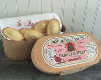 Vintage French Wooden Madeleines Box