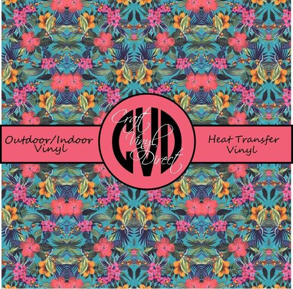 Tropical Patterned Vinyl // Patterned / Printed Vinyl // Outdoor and Heat Transfer Vinyl // Pattern 741