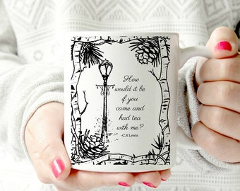 Narnia mug. The chronicles of Narnia. C.S. L ewis mug - Ceramic Mug - Aslan the lion. Christmas gift