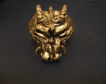 Dragon head ring Alchemy Gothic original  vintage fantasy pewter