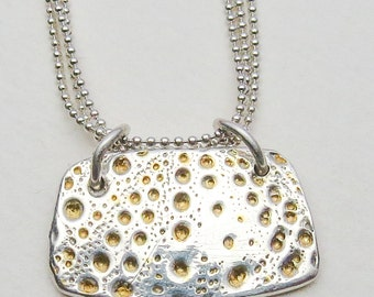 Silver with Gold Dots Necklace