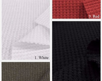 USA Made Premium Quality Thermal Knit Fabric (Wholesale Price Available By the Bolt) - 7320 - 1 Yard