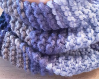 Snood blue grey mix