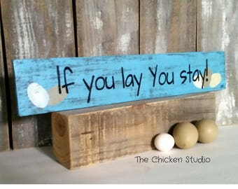 Chicken Coop Sign, Egg Sign, Chicken Decor, Farm Sign, Funny, Wood