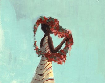 Rose Queen . HORIZONTAL / landscape giclee print