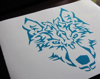 Wolf Vinyl Decal / Sticker *Available in 24 Colors*